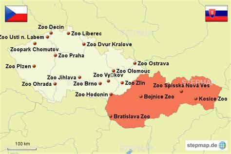 karte deutschland tschechien zoos tschechien slowakei zoomaps landkarte f 252 r