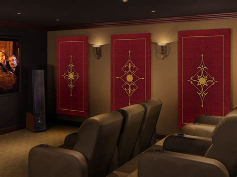 decorative acoustic panels home theater acoustic wall art