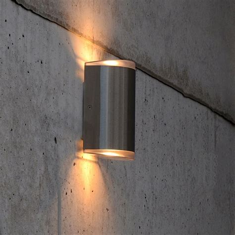 up and exterior lights lutec path 15w exterior led up and wall light in