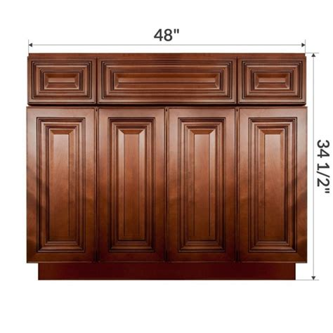 Kitchen Base Cabinet As Bathroom Vanity Vsb4821345 Geneva 48 Quot Vanity Sink Base Cabinet Rta Rta