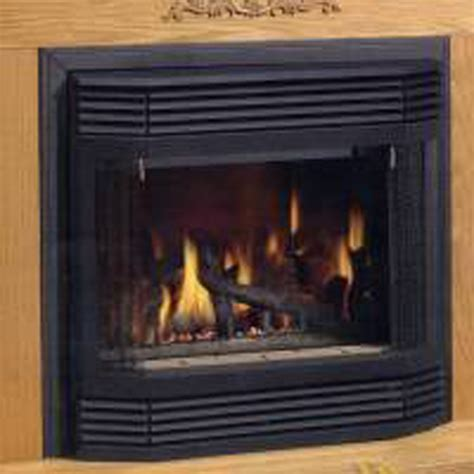 Fireplace Pull Screens by Napoleon Gd70 Gas Fireplace Bay Front Kit With Pull Screen And Brick Front