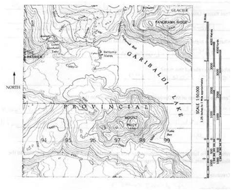 cross section topographic map topographic profile on a real map homework lib