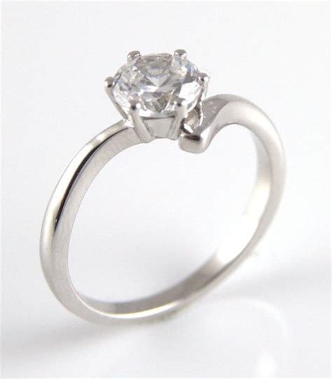 unique 1ct crossover shank engagement ring solid