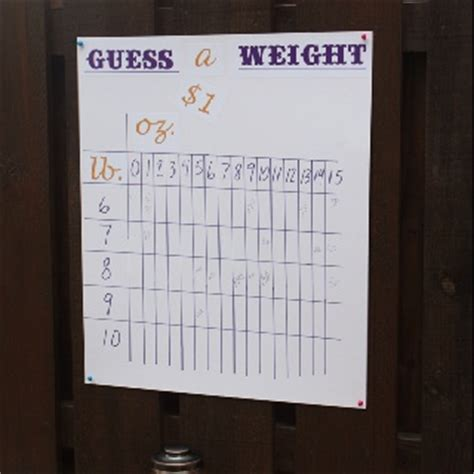 guess the baby weight template pin by patti osborn on ideas