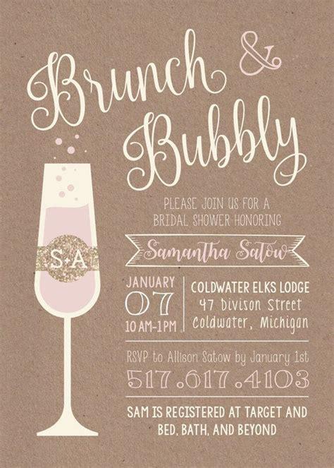 free printable bridal shower brunch invitations brunch bubbly printable bridal shower invitation etsy