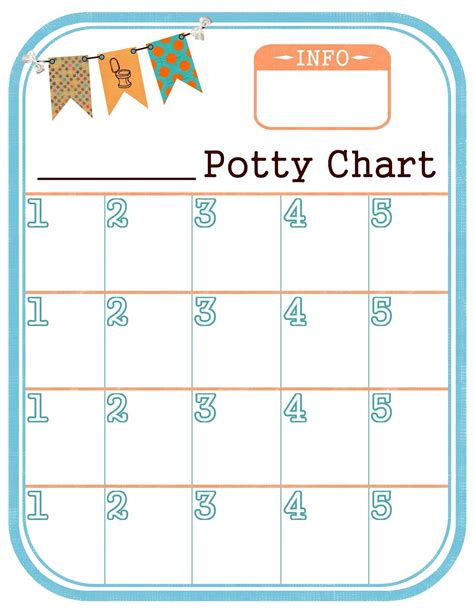 potty charts for children activity shelter