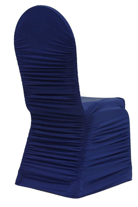 navy blue chair covers aliexpress buy ruffled spandex chair cover shirred