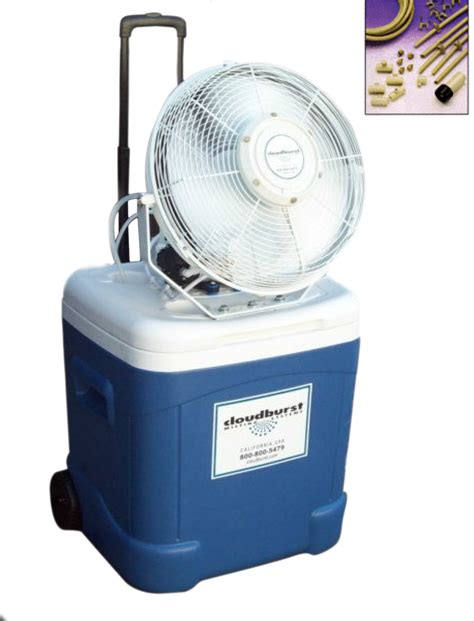 portable misting fans with tank coolermax water cooler portable misting fan cloudburst 174
