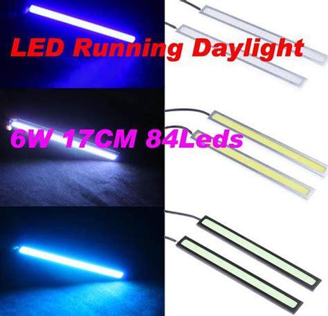 Led Drl 17cm Universal 100pcs lot daytime running lights led drl universal cob chips12v 17cm cob led white daylight