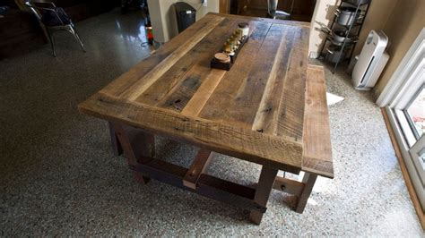 barnwood dining room table solid oak reclaimed barn wood dining room table