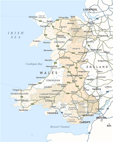 map of wales political map of wales royalty free editable vector map maproom