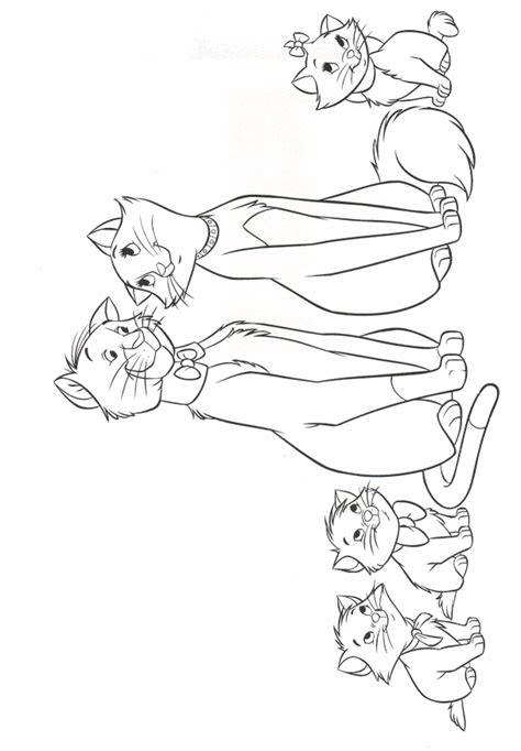 Aristocats Coloring Pages Family Coloring Pages Aristocats Coloring Pages