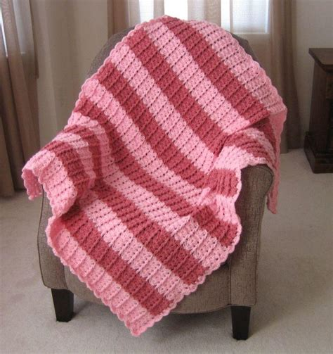 pattern crochet lshade lacy shades of pink shells afghan