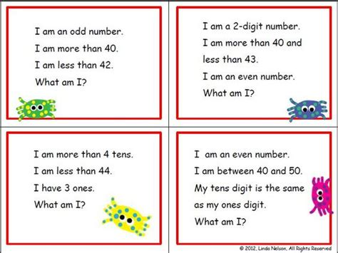 grade and second grade math 120 riddle cards for the