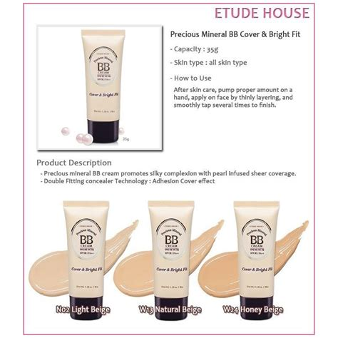 Etude House Precious Mineral Bb etude house precious mineral bb cover bright fit