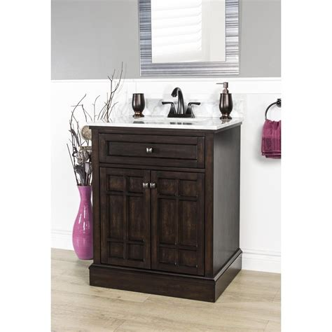 Bathe Vanities by Foremost 28 In X 22 In Blaire Undermount 1 Birch Poplar