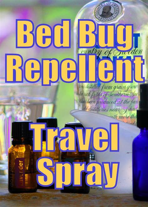 essential oils for bed bugs bed bug repellent travel spray limpiar pinterest