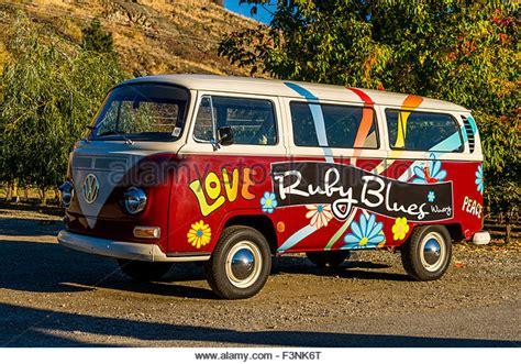 volkswagen van hippie blue flower power 1960s stock photos flower power 1960s stock