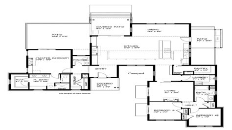 contemporary house plans modern single story house plans modern one story house plans