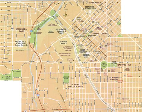 map denver colorado denver city map my