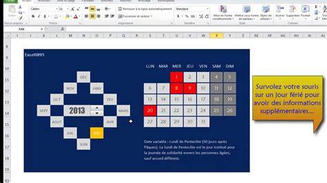 Calendrier Excel 2010 Excel 2010 D 233 Mo Calendrier Dynamique
