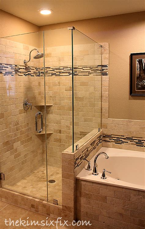 Master Bath Shower by Master Bathroom Reveal 80s To Awesome The Six Fix