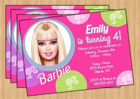 printable invitations barbie barbie invitation templates barbie birthday party