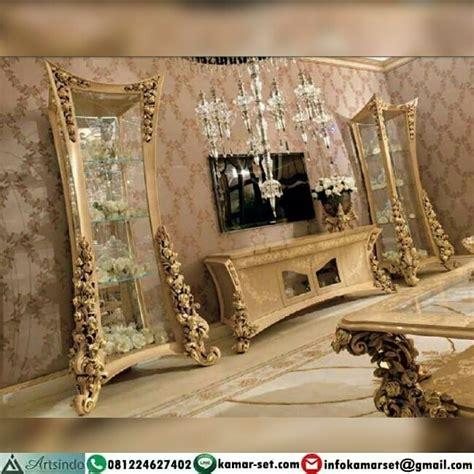 Bufet Tv Meja Tv Bunga Mawar bufet klasik ukiran meja tv mewah set bufet tv mewah arts indo furniture jepara