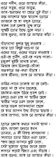 rabindranath tagore biography in hindi font shesher kobita in bangla font