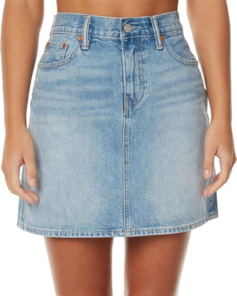 new levi s s antics womens denim skirt cotton blue