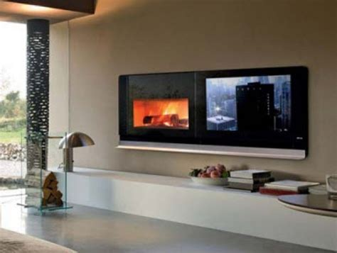 European Style Furniture With Modern Fireplace Tv Home
