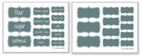 Kitchen Cabinet Organizing Ideas Free Printable Baking And Pantry Labels