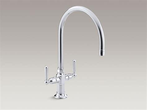 kohler gooseneck kitchen faucet standard plumbing supply product kohler k 7341 4 s hirise single two handle kitchen