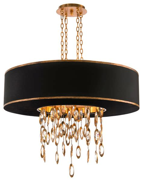 Black And Gold Chandelier Keyes Regency White Single Gold Waterfall Pendant Reviews Houzz