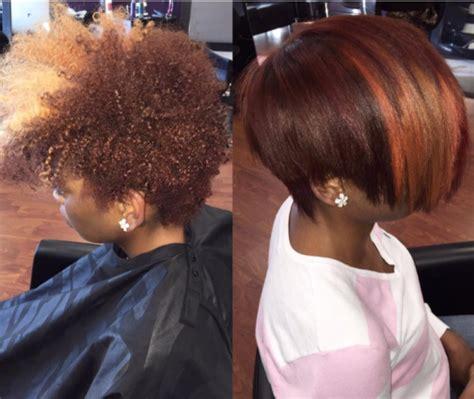 short pressed hairstyles nice silk press via msklarie black hair information