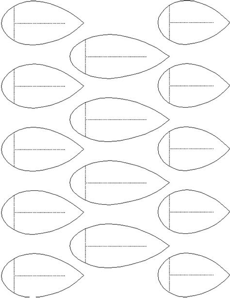 printable flower leaves template 8 best images of printable flower template leaf leaves