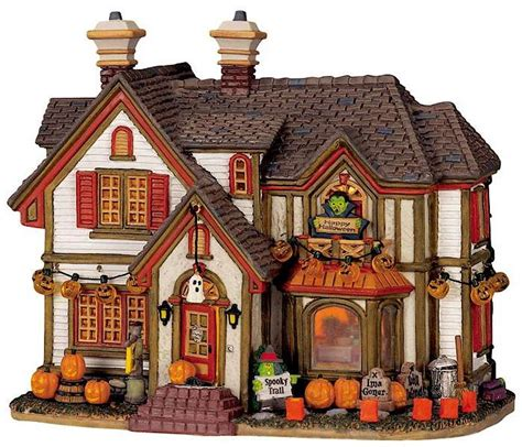 lemax halloween houses lemax spooky town haunted house spooky town pinterest