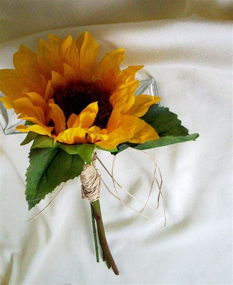 items similar to bridal bouquet sunflower budget brides ready ship yellow wedding