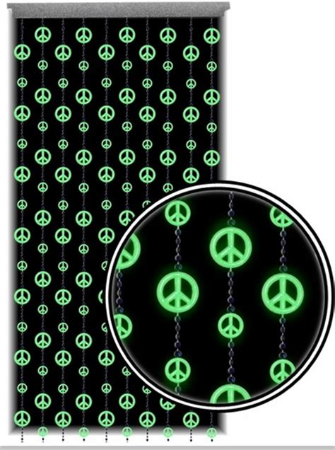 glow in the dark curtains beaded curtains glow in the dark and blacklight peace