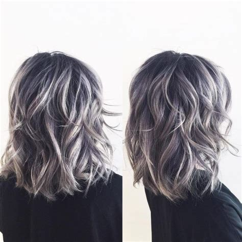ash blond with grey highlights silver blonde root shadow hair ideas pinterest