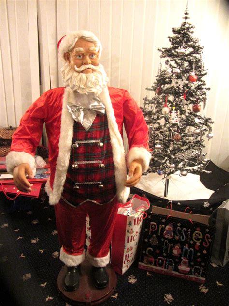6 ft tall singing santa 5 foot karaoke singing santa moving decoration sensor
