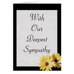 with our deepest sympathy sympathy card zazzle