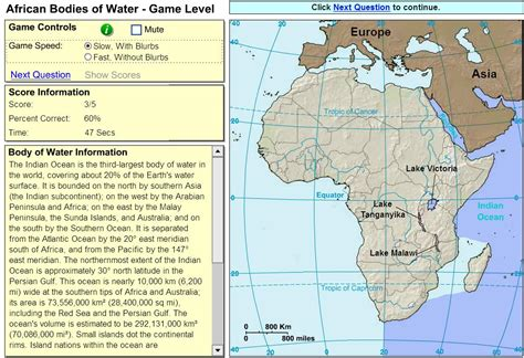 africa map quiz sheppard interactive map of africa oceans and lakes of africa