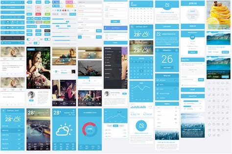 mobile interface design 50 free flat ui kits to speed up your workflow
