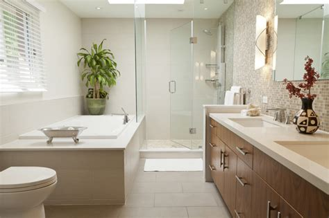 zen ensuite contemporary bathroom toronto by transitional bathroom design ideas remodels amp photos