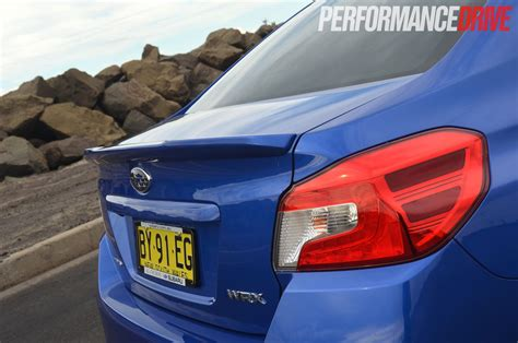 subaru wrx spoiler 2015 subaru wrx premium review video performancedrive