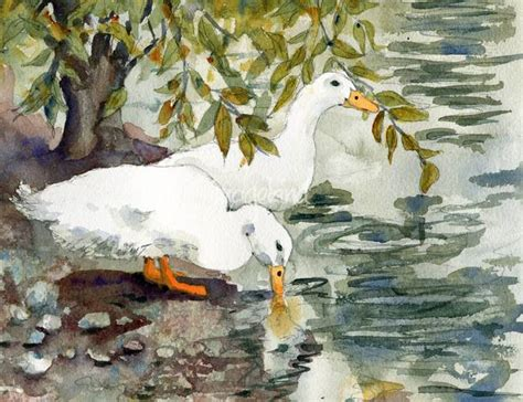 ozzie and harriet white duck watercolor painting by stunning quot peking duck quot painting reproductions for sale on