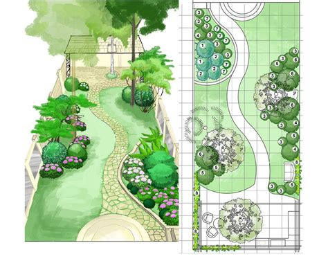 this back garden design plan эскиз