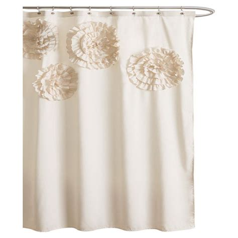 ivory shower curtains lavinia shower curtain in ivory where the heart is