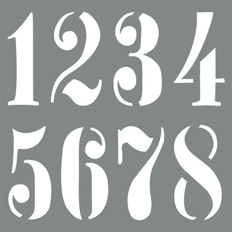 Stencils For Spray Painting Numbers Painting Ideas Number Templates For Spray Painting